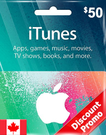cad50 itunes gift card ca discount promo