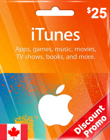 cad25 itunes gift card ca discount promo