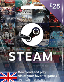 steam wallet code gbp25 uk