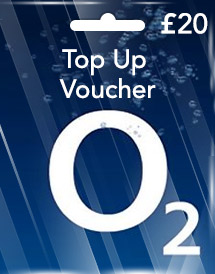 gbp20 o2 top up voucher uk