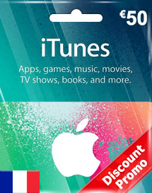 eur50 itunes gift card fr discount promo