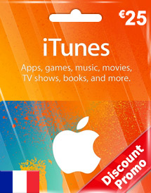 eur25 itunes gift card fr discount promo