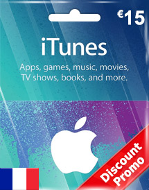 eur15 itunes gift card fr discount promo