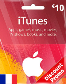 eur10 itunes gift card fr discount promo