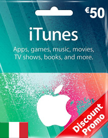 eur50 itunes gift card it discount promo