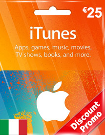 eur25 itunes gift card it discount promo