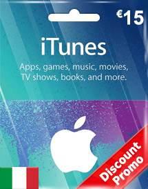 eur15 itunes gift card it discount promo