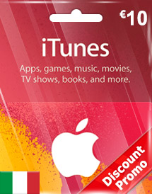 eur10 itunes gift card it discount promo