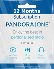 pandora one 12 months subscription us