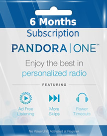 pandora one 6 months subscription us