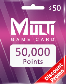 multi game card 50,000 points global discount promo