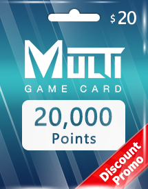 multi game card 20,000 points global discount promo