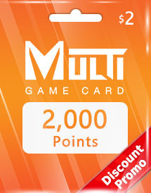 multi game card 2,000 points global discount promo