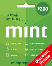 mint prepaid card usd300 global discount promo