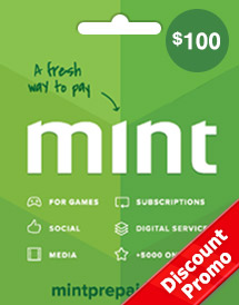 mint prepaid card usd100 global discount promo