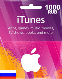 itunes 1,000rub gift card ru