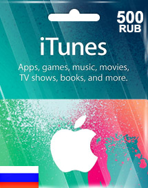 itunes 500rub gift card ru
