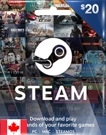 steam wallet code cad20 ca