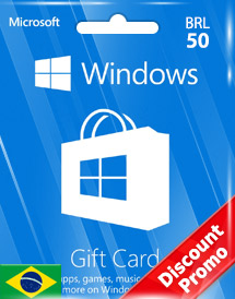 windows phone store brl50 gift card* br discount promo
