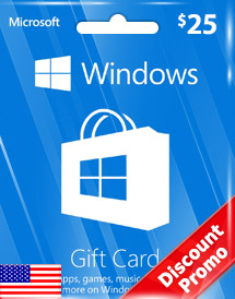 windows phone store usd25 gift card* us discount promo