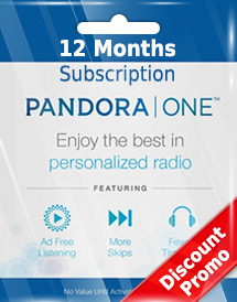 pandora one 12 months subscription us discount promo