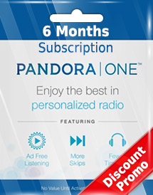pandora one 6 months subscription us discount promo