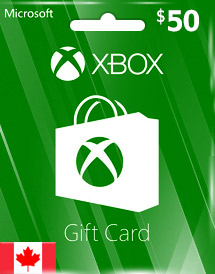 cad50 xbox live gift card ca