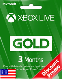 xbox live gold 3 months subscription us discount promo