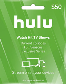usd50 hulu plus gift card us