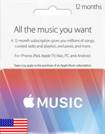 apple music 12 months membership us
