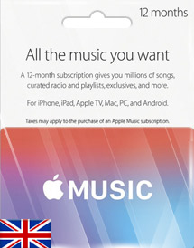 apple music 12 months membership uk