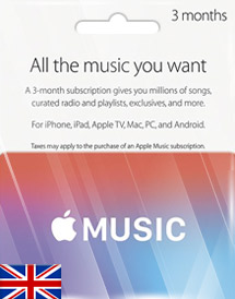 apple music 3 months membership uk