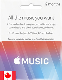 apple music 12 months membership ca