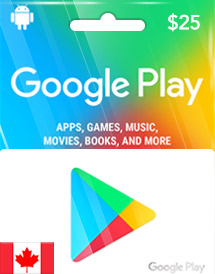 google play cad25 gift card ca