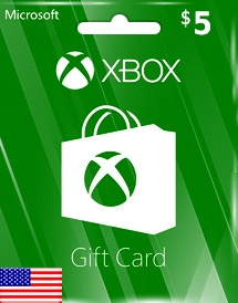 usd5 xbox live gift card us