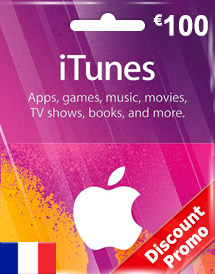eur100 itunes gift card fr discount promo
