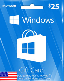 windows phone store usd25 gift card* us