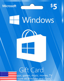 windows phone store usd5 gift card* us
