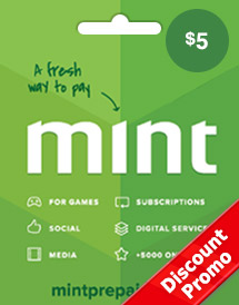 mint prepaid card usd5 global discount promo