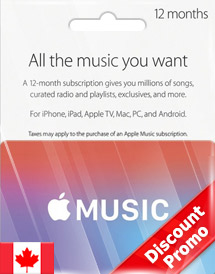 apple music 12 months membership ca discount promo