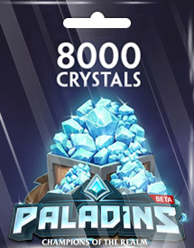 paladins 8,000 crystals global