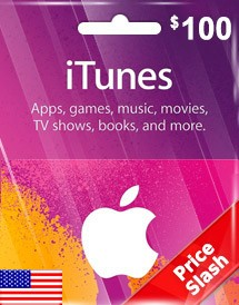 itunes usd100 gift card us price slash promo