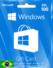windows phone store brl100 gift card* br