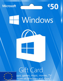 windows phone store eur50 gift card* eu