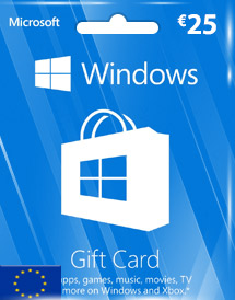windows phone store eur25 gift card* eu