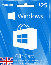 windows phone store gbp25 gift card* uk
