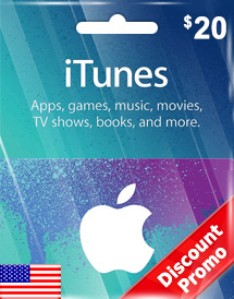 itunes usd20 gift card us discount promo