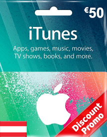 eur50 itunes gift card at discount promo