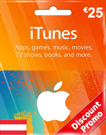 eur25 itunes gift card at discount promo
