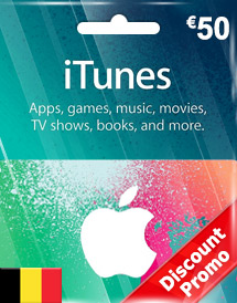 eur50 itunes gift card be discount promo